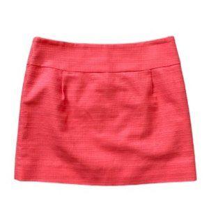 🖤J. Crew textured tweed mini skirt - coral